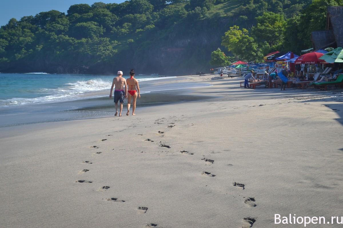 Красивый пляж на Бали