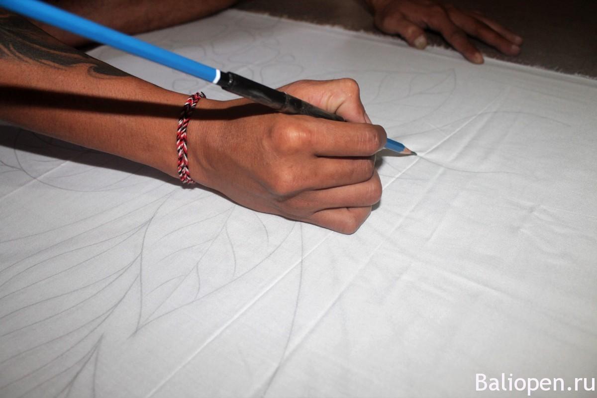 Простые рисунки по батику
