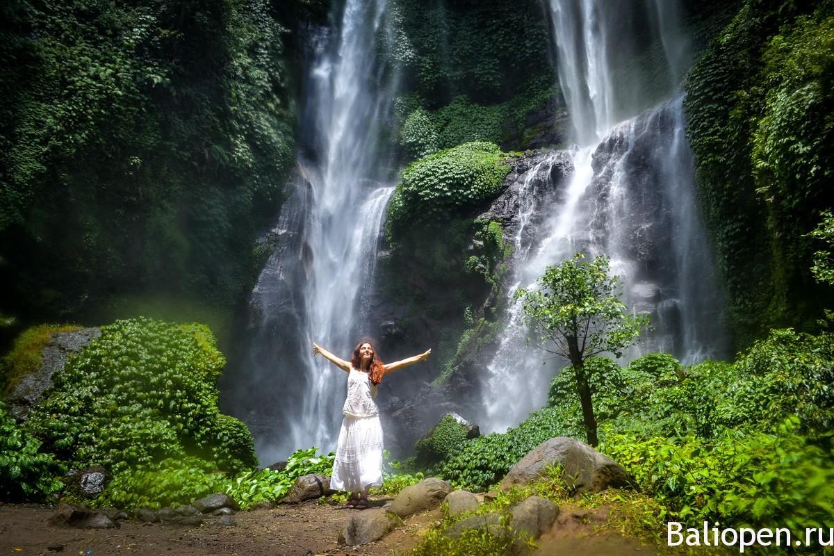 Самые красивые водопады Бали