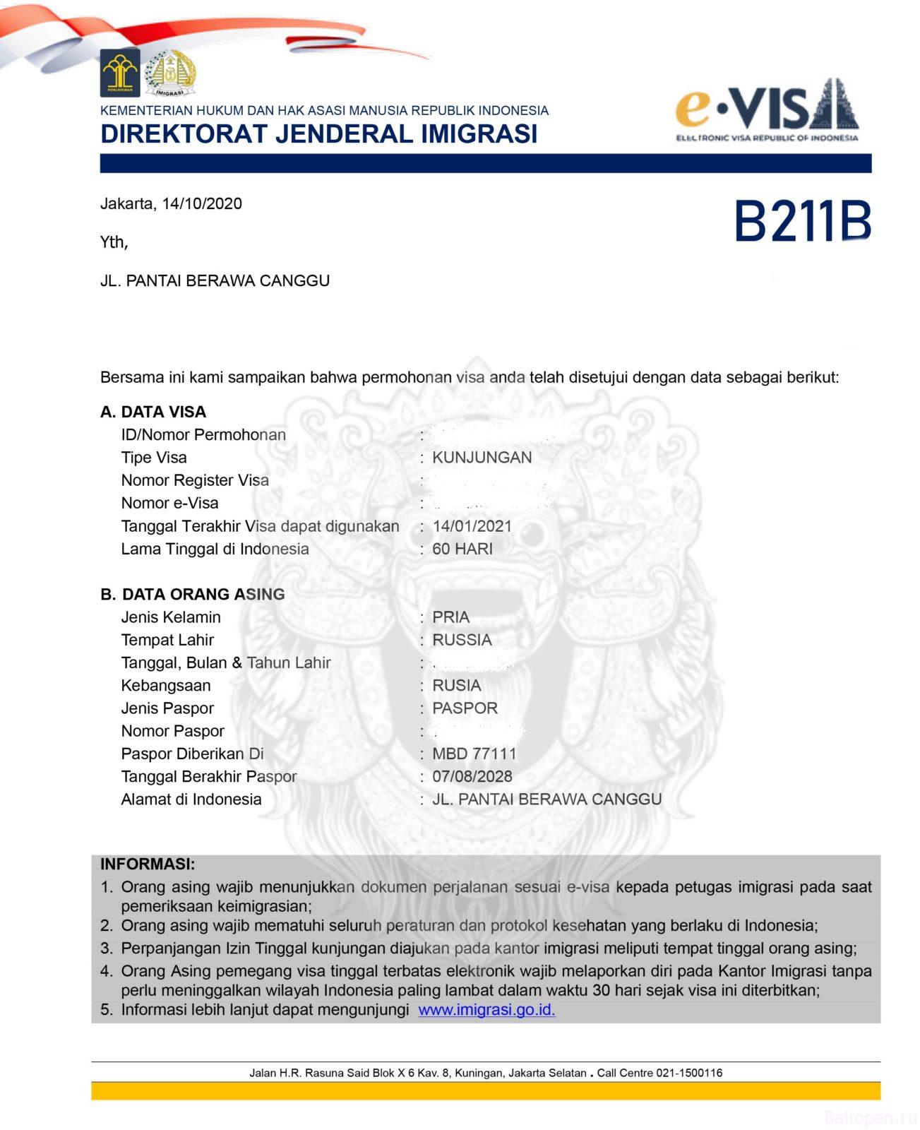 evisa_indinesia_bali электорнная виза на Бали в Индонезию